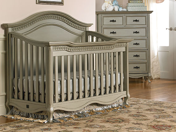 Lyla Rose Convertible Crib Saddle Grey